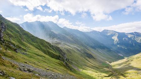 Beautiful rocky view in Fagaraš mountains in Southern Carpathians, Romania