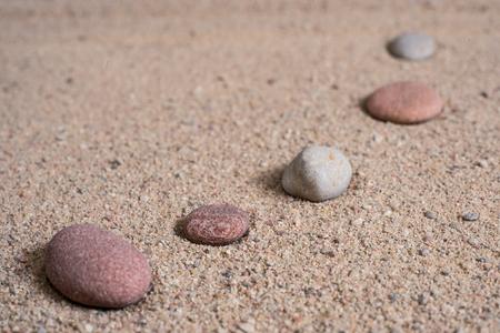 raked: zen garden sand waves and rock sculptures