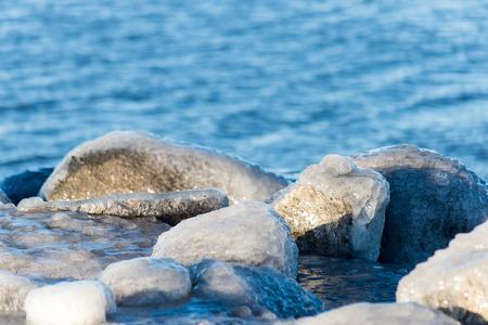 abstract frozen ice blocks in the sea Stock Photo