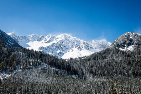 Beautiful landscape view of Western carpathian, Tatry mountains in winter