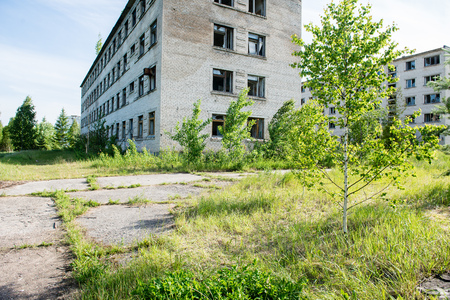 other keywords: old abandoned military town exterior and architecture