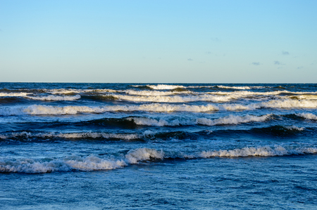 high waves in the baltic sea. nature in latvia Stock Photo