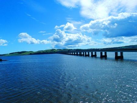 dundee: River Tay, Tay Bridge Stock Photo