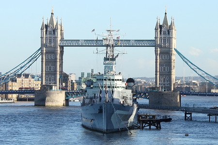 hms: Tower Bridge and HMS Belfast, London