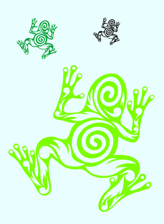 Frog ornate art picture Vector