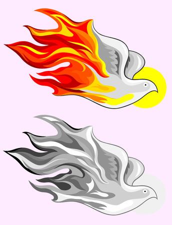 Holy spirit fire art