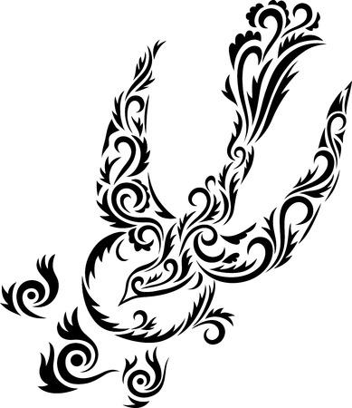 Holy spirit ornament  Dove Holy spirit art vector decoration  Vector