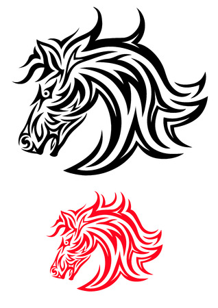 Head horse,  Horse face tribal art vecor design  Vector