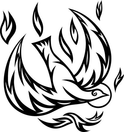 Dove tribal art vector decoration  Vector