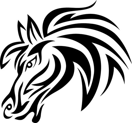 Horse tribal art vector picture Vector