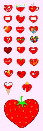 Love icon set  vector file  Vector