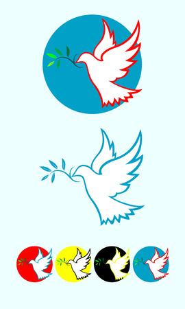 colomba della pace: Pace Colomba illustrazione arte vettoriale