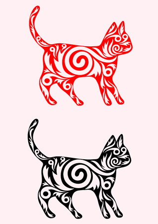 Cat ornate art vector decoration  Vector
