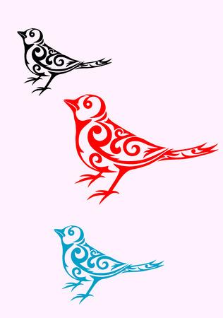 tatuaje de aves: Dise�o tribal del tatuaje del p�jaro