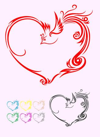 Heart love frame Vector
