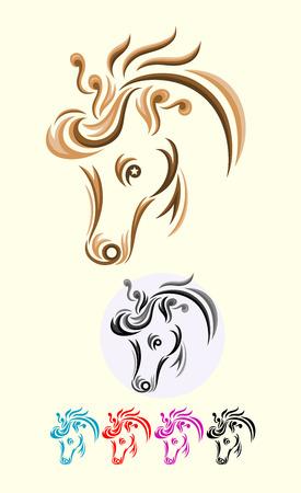 Horse head, art vector decoration  Vector