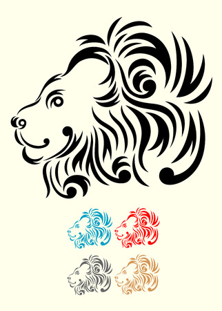 Lion head, art vector decoration  Vector