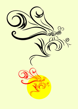 Dragonfly decoration Vector