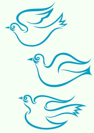 colomba della pace: La pace Colomba, grafica vettoriale