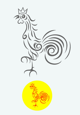 Rooster, vector decoration  Vector
