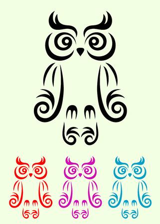 Owl bird, art vector decoration Vector
