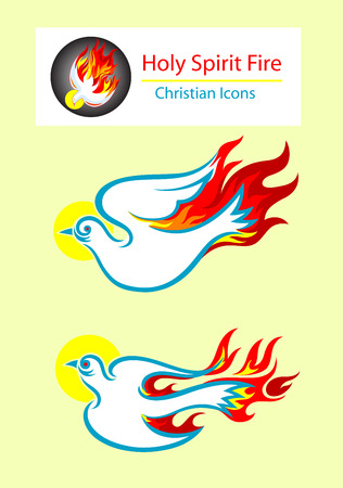 espiritu santo: Iconos Esp�ritu Santo, el dise�o de arte vectorial