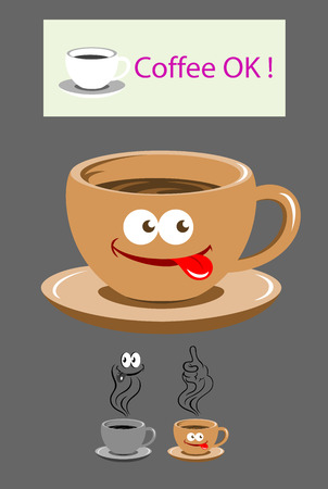 Cup of coffee, art vector design Vector
