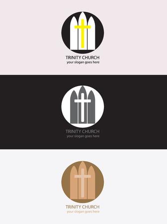 trinity: Trinity church logo, art vector design Illustration
