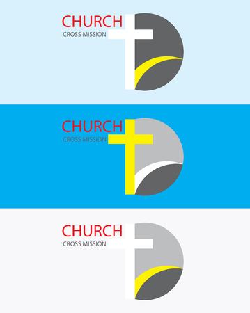 Mission activity church logo, art vector design Vectores