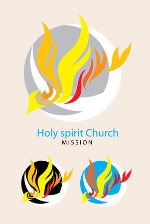 of the holy trinity: Holy spirit church  Illustration