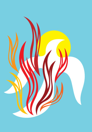 Fire of Holy spirit, art vector decoration Illustration