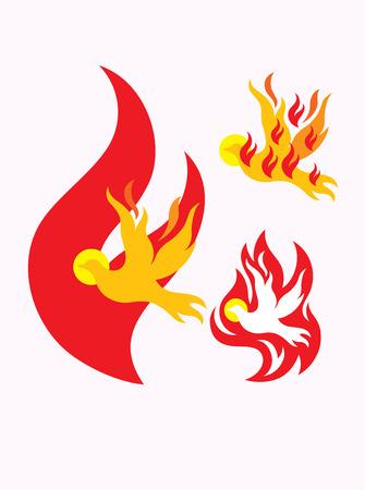 Holy spirit, art illustration Vectores