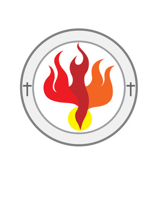 pentecost: Holy spirit church , art vector design Illustration