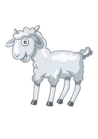 sheep cartoon: Sheep cartoon, art illustration