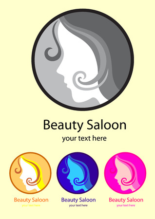 Beauty saloon, art vector logo design Vector