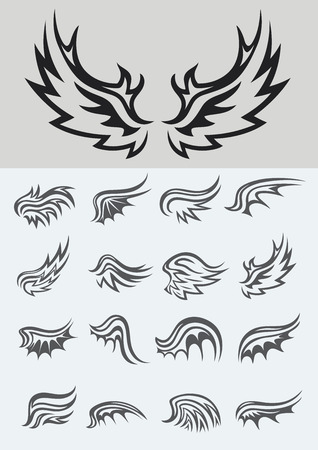 tribal wings: Wing set, vector design