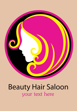 Schoonheidssalon, kunst vector design Stock Illustratie