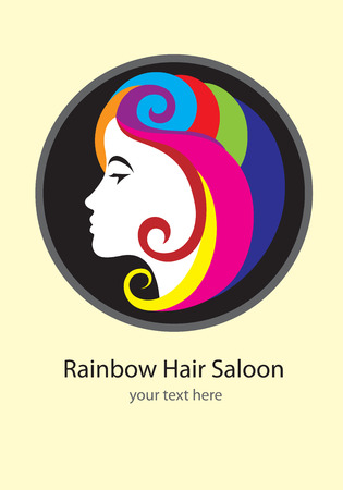 hair saloon: Rainbow hair saloon, art design