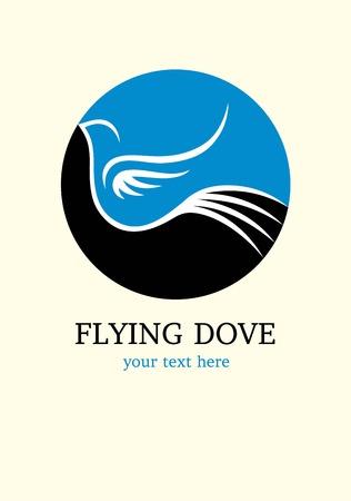 鳩の飛行  イラスト・ベクター素材