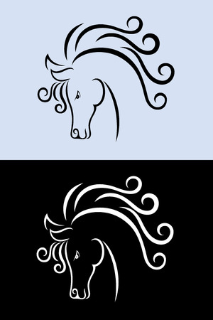 Horse face, art vector decoration Vector