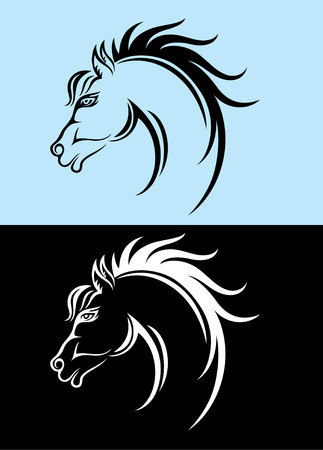 Horse head, art vector decoration Vector