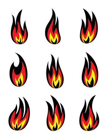 Fire icon, art vector illustration Vector