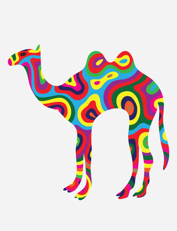 Camel vector,colorfully