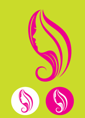 Beauty Haare, Kunst Vektor-Design- Standard-Bild - 34732258