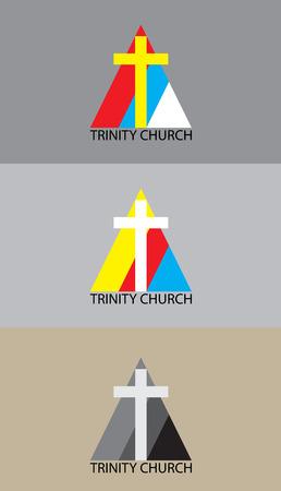 trinity: Christian trinity church illustration , art vector design Illustration