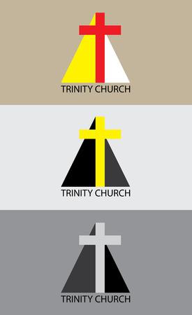 Trinity church illustration, art vector design Vector