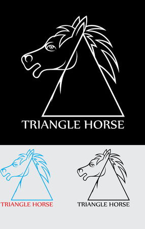 Triangle head horse, art vector Vector