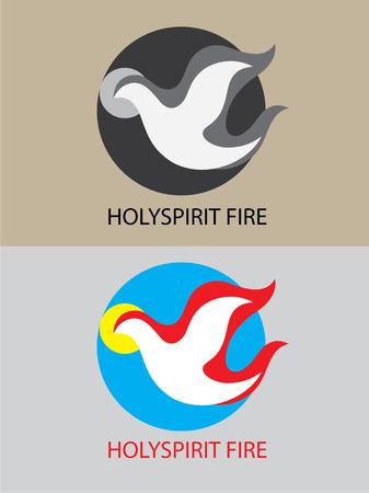 holy  symbol: Fuego del Esp�ritu Santo, el arte vectorial dise�o de logotipo