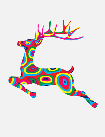colorfully: Deer abstract colorfully, art illustration