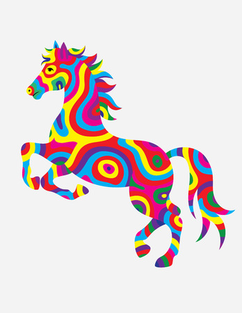colorfully: Horse abstract colorfully Illustration